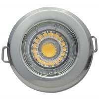 4er Set Einbauspots Dario, 5W COB LEDs, 12Volt, Gu5.3, Aluminium, schwenkbar - mit LED Trafo 20W