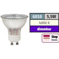 Step Dimmbar / 5W SMD LED Bad Einbauleuchte Marina 230 Volt / IP44 / 400 Lumen