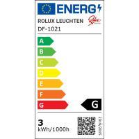 9er Set / Flache LED Einbauspots Lina / 12Volt / 3W / Kabelbaum / Stecker/ Verteilerleiste / LED Trafo / Einbautiefe nur 15mm