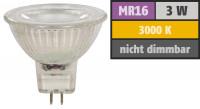 Reflektor COB LED Leuchtmittel 12Volt - 3Watt - WARMWEISS - 230 Lumen - Sockel Gu5.3 - 36° Lichtkegel