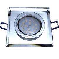 Eckiger SMD LED Glas Einbaustrahler Laura | 230V | 5W STEP DIMMBAR | Starr | Klarglas