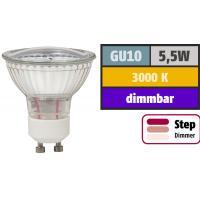 2 x Quadratischer Deckenstrahler Dario 12Volt mit SMD Leuchtmittel und Trafo. Highlight: Bajonett Drehverschluss.