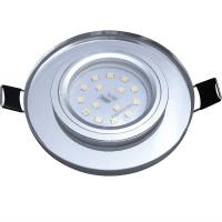 Runder SMD LED Glas Einbaustrahler Laura | 230V | 5W STEP DIMMBAR | Starr | Klarglas
