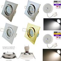 Flacher SMD LED Einbaustrahler Dario / 220Volt / 5Watt / STEP DIMMBAR / ET=32mm