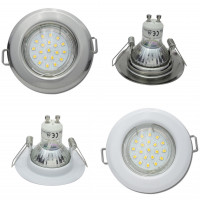 SMD Einbaustrahler Tom / 230V / 3W=30W / 250 Lumen / Silber oder Weiss