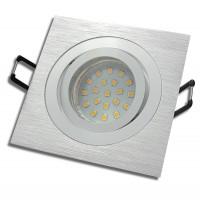 SMD LED Einbaustrahler / 230Volt / 3Watt / Aluminium / Drehbar / Eckig