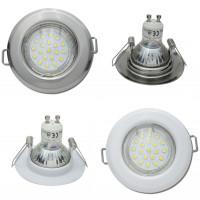 SMD LED Einbaustrahler Tom / 230V / 5W=50W / 400 Lumen / Silber oder Weiss