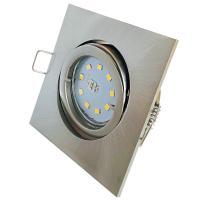 Bad Einbauleuchte Aqua44 230Volt - OHNE LEUCHTMITTEL - Schutzart IP54 - Farben: Edelstahl gebürstet, Chrom und Weiß