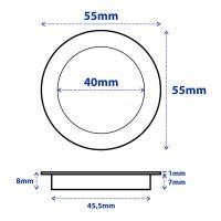 4er Set = Einbaustrahler Timo / MCOB LED Leuchtmittel 230Volt / 3W - 5W oder 7Watt / Schwenkbar